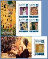 slm14701ab Solomon Is. 2014 Painting Gustav Klimt 2 s/s