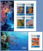 slm14704ab Solomon Is. 2014 Corals 2 s/s