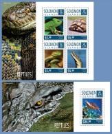 slm14707ab Solomon Is. 2014 Reptiles Turtle 2 s/s