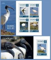 slm14708ab Solomon Is. 2014 Birds White Ibis 2 s/s