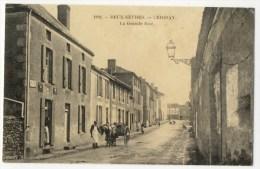 CERIZAY -  La Grande Rue. Très Belle Carte Aves Attelage. - Cerizay