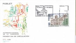 11616. Carta F.D.C. Barcelona 1993. Monasterio De POBLET (Tarragona) - FDC