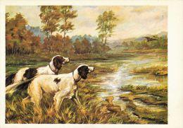 [DC5283] CARTOLINA - CANI DA CACCIA - Non Viaggiata - Old Postcard - Cani
