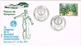 11617. Carta Exposicion Barcelona 1973. Congreso Cardiovascular. Medicina - 1931-Hoy: 2ª República - ... Juan Carlos I