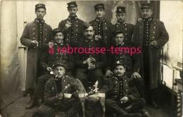 Carte Photo Soldats148e R Posant Avec Petit Cheval De Bois-envoi De F. Rousseau, Cultivateur Qui S'inquiète Pour Son Blé - Guerre, Militaire