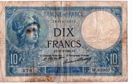 - BILLET De 10 FR Minerve 31 3 1932 - état Plié  - 546 - 1871-1952 Antichi Franchi Circolanti Nel XX Secolo