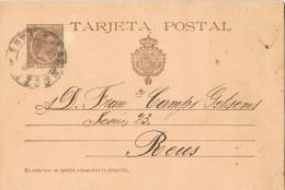 11618. Entero Postal ZARAGOZA 1898,  10 Ctss Alfonso XIII Plon, Num 36A - 1850-1931