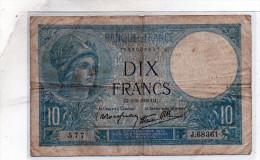 - BILLET De 10 FR Minerve 2 2 1939 - état Plié  - 550 - 1871-1952 Antichi Franchi Circolanti Nel XX Secolo