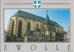 NL.- Zwolle. Grote- Of St. Michaelskerk Met Hoofdwacht En Noorderportaal. Kerk. 2 Scans - Zwolle