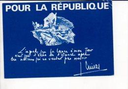 Polique,évenement - Carte Pétition Pour Jacques Chirac,Président Du RPR,pour La Défense Des Institutions, Libertés... - Evènements