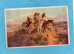CANADA-groupe D'indiens à Cheval-the Scouts-voyagé  En  1911 - Native Americans