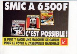Polique - Carte Pétition Du Parti Communiste Pour Le SMIC à 6500 Frs Pour Le Premier Ministre à Paris - Evènements