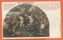OV895, Serment Du Rütli, Der Rütlischwur, Guillaume Tell, Wilhelm Tell, Précurseur, Circulée 1900 - Uomini
