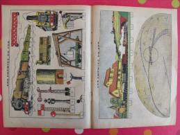 Découpage Diorama à Construire. Locomotive Wagon Chemins De Fer  Gare Tunnel Signaux. 1938 - Vieux Papiers