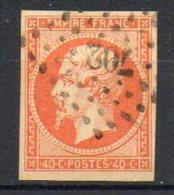 FRANCE - 1853-60 - Second Empire - Napoléon III - N° 16a - 40 C. Orange Vif (Oblitération : Losange Petits Chiffres) - 1853-1860 Napoleon III