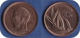 *BAUDOUIN*20 FRANCS -ANNEE 1981 -TYPE ELSTROM (Française)  ****ISSUE DU SET FDC**** - 1951-1993: Baudouin I