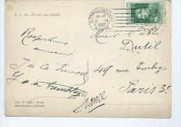 Vatican. Timbre Sur Carte Postale - Lettres & Documents