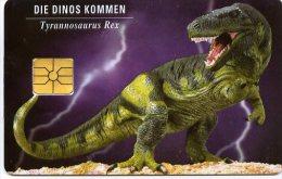 @+ Tchécoslovaquie - Carte Multifonction à Puce - Dinosaure - Ty Rex - 1/94 - 2 000 Ex - Tchécoslovaquie