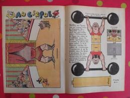 Découpage  à Construire Et à Animer. Au Cirque. Homme Fort Chiens Savants Clown. Cuvillier. 1939 - Sammlungen