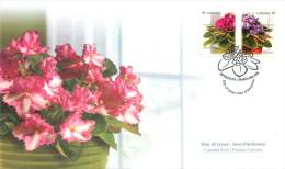 2010   African Violets  Sc 2377-8  Se-tenant Pair From Booklet - 2001-2010