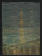 Saudi Arabia 3 D Picture Postcard Holy Mosque Ka´aba Macca Islamic Islam Plastic Post Card - Arabie Saoudite