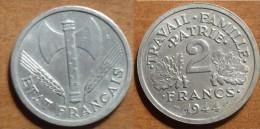 1944 - France - 2 FRANCS, Bazor, Etat Français, Aluminium - I. 2 Francs