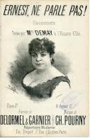 PARTITION XIX ERNEST NE PARLE PAS MME DEMAY DELORMEL GARNIER POURNY ILLUSTRÉ FARIA C1890 - Autres
