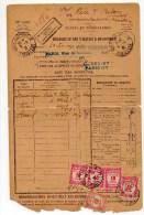 1931 - BORDERAU DES VALEURS A RECOUVRER TAXEE à RIEC SUR BELON (FINISTERE) - Taxes