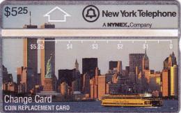USA NYNEX HOLOGRAPHIQUE LANDIS TWIN TOWERS STATUE LIBERTY LIBERTE NEW YORK N� 108D...MINT NEUF  RARE