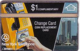 USA NYNEX HOLOGRAPHIQUE LANDIS TWIN TOWERS STATUE LIBERTY LIBERTE NEW YORK N� 108E...MINT NEUF  RARE