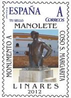 Spain 2015 - Toros - Monumento A Manolete En Linares Mnh - Zonder Classificatie
