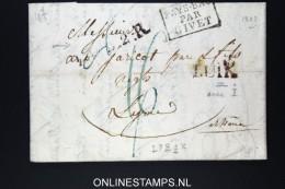 Belgium: Letter LUYK To Leiden  1823 LUIK, Pays-bas Par Givet LPB2R - 1815-1830 (Dutch Period)