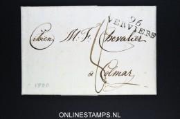 Belgium:  Letter Verviers To Colmar France, 1800 , 96 VERVIERS - 1794-1814 (Période Française)