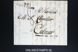 Belgium:  Letter Verviers To Colmar France, 1809 , 96 VERVIERS - 1794-1814 (Période Française)