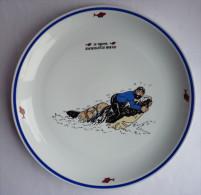 GRAND PLAT EN PORCELAINE TINTIN -  19,5 cm 1996 - HERGE