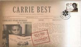 2011  Black History Month; Carrie Best, Publisher  Sc 2433  Single - Omslagen Van De Eerste Dagen (FDC)