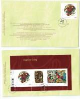 2011   Daphne Odjig, Aboriginal Painter  Sc 2436-7  Single And Souvenir Sheet On 2 FDCs - Omslagen Van De Eerste Dagen (FDC)