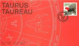 2011    Signs Of The  Zodiac: Taurus  Sc 2450  Single From Booklet - Omslagen Van De Eerste Dagen (FDC)