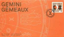 2011    Signs Of The  Zodiac: Gemini  Sc 2451  Single From Booklet - Omslagen Van De Eerste Dagen (FDC)