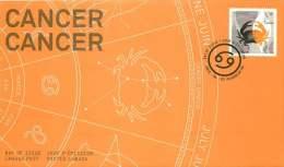 2011    Signs Of The  Zodiac:  Cancer  Sc 2452  Single From Booklet - Omslagen Van De Eerste Dagen (FDC)