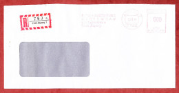 Einschreiben, Rueckschein, Francotyp-Postalia B25-5451,Dach+Abdichtung Systembau, 600 Pfg, R-Zettel Asperg 1991 (22329) - [7] West-Duitsland