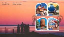 2011  Roadside Attractions Series 3  Sc 2485a-d  2 Se-tenant Pairs From Booklet - Omslagen Van De Eerste Dagen (FDC)