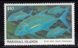 Marshall Islands MNH Scott #184 $10 Blue Jack - Fish - Marshall