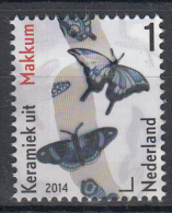 Nederland – Mooi Nederland 2014 – Keramiek Uit Makkum - Postfris/MNH - NVPH 3168A - Vlinders