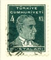 TURKEY  -  1931 To 1954  Kemal Attaturk  4k  Used As Scan - 1921-... Republic