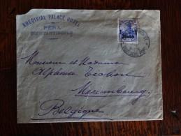 Germany 25/10/1912  Sur Lettre De Constantinople Vers Mariembourg - Coordination Sectors