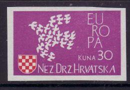 CROATIA - NEZAVISNA DRZAWA HRWATSKA 1961 EUROPA CEPT  MNH IMPERFORATED - Europa-CEPT
