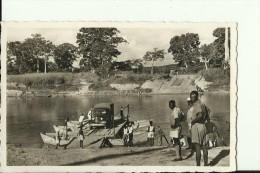 CAR5   --   OUBANGUI  ( A.E.F. )   --   PASSAGE D `UN BAC   ---   PONTOON BRIDGE,  OLDTIMER  --  REAL PHOTO PC - Centraal-Afrikaanse Republiek