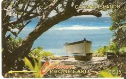 TARJETA DE CAYMAN ISLANDS DE UNA BARCA  6CCIB - Cayman Islands