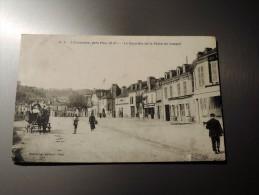 carte postale ancienne : JURANCON : Le Quartier de la Place du Junqu� , anim� en 1911